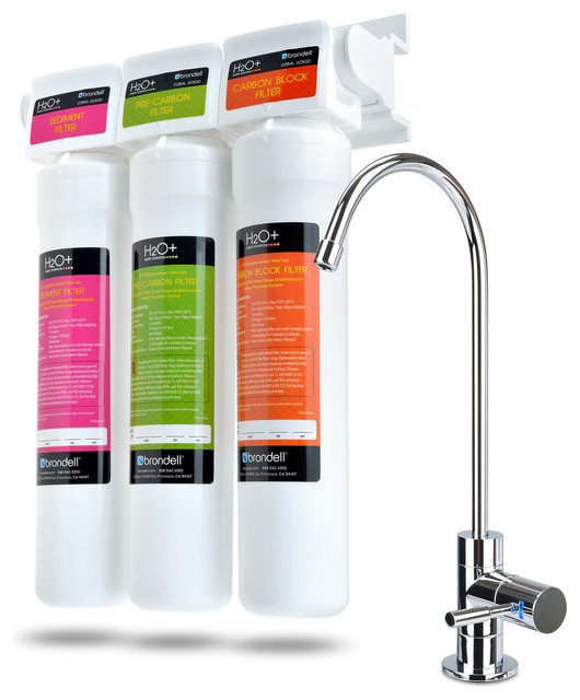 H2O+ Coral Three-Stage Undercounter Water Filtration System