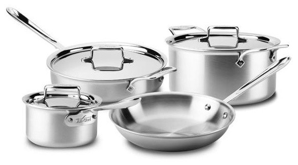 All Clad D5 Brushed Ss Cookware Set, 7 Pc..