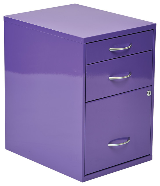 "22"" Pencil, Box, Storage File Cabinet in Blue Finish - Contemporary - Filing Cabinets - by ..."