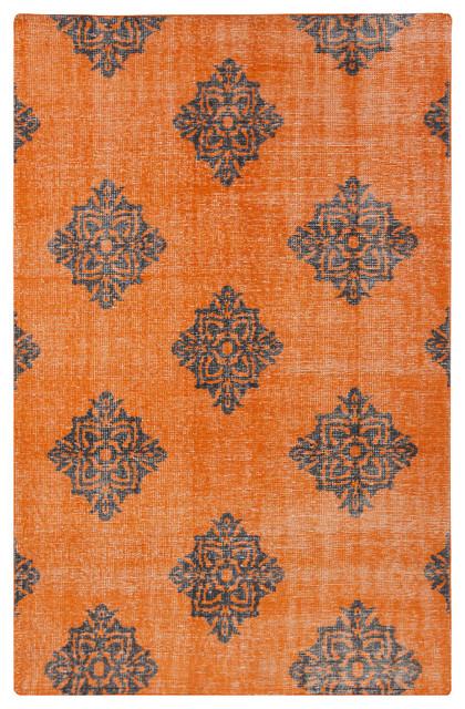 Surya Zahra Zha 4025 Burnt Orange Black Area Rug Contemporary Rugs