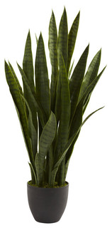 ortega faux sansevieria plant - contemporary - artificial plants and