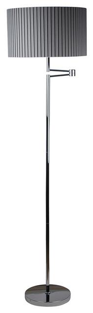 Eristow Floor Lamp, Polished Chrome