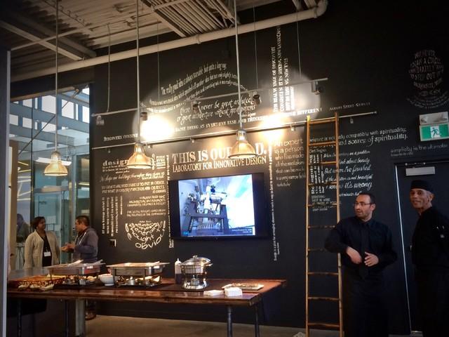 Architectural Office Space midcentury-kitchen