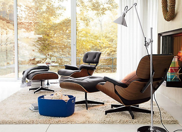 modern lounge chairs for living room. Eames Lounge Chair modern living room  Modern Living Room Vancouver by Rove
