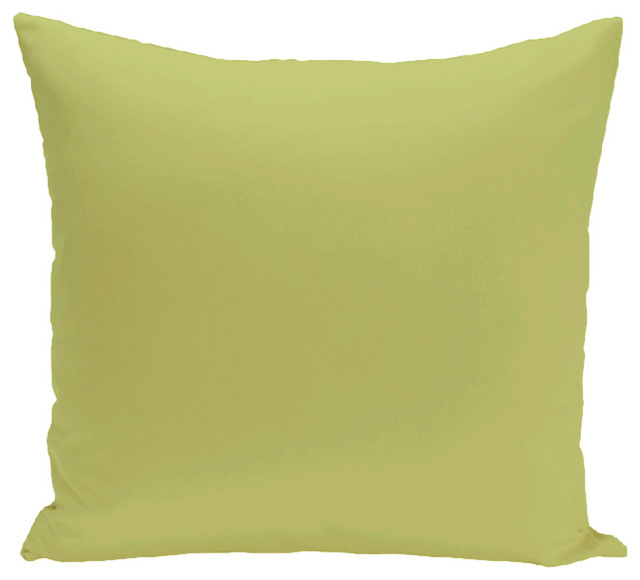 """Solid Print Pillow, Green, 16""""x16""""."""