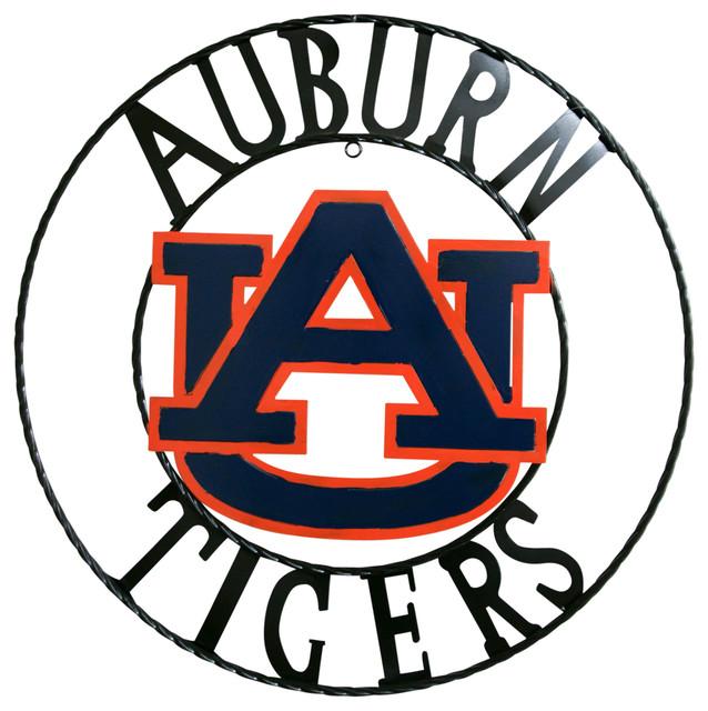 Auburn Tigers Wrought Iron Wall Decor - Contemporary - Metal Wall ...
