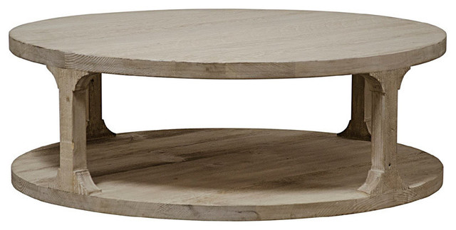Reclaimed Lumber Gimso Round Coffee Table.