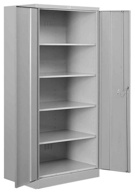 36 In. Heavy Duty Standard Storage Cabinet In Gray Finish.