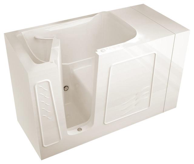 Meditub Walk-In 30 X 53 Left Drain Biscuit Soaking Walk-In Bathtub.
