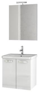 """22"""" Glossy White Bathroom Vanity Set"""