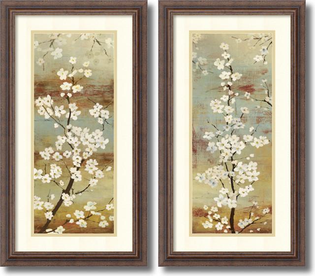 Asia Jensen \'Blossom Canopy- set of 2\' Framed Art Print 14\