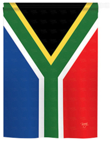 South Africa 2 Sided Vertical Impression House Flag Contemporary Flags And Flagpoles By Breeze Decor