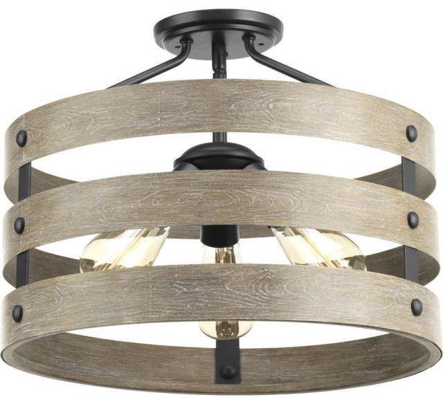 Gulliver 3 Light Semi Flush Convertible