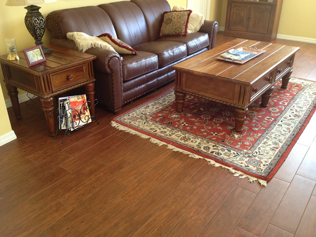 porcelain plank wood look tile installations tampa florida - Wood Tile Floor Living Room