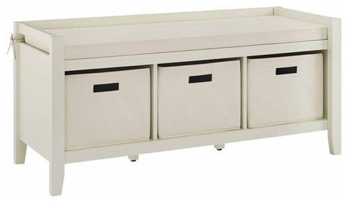 Linon Holt Cream Entryway Bench
