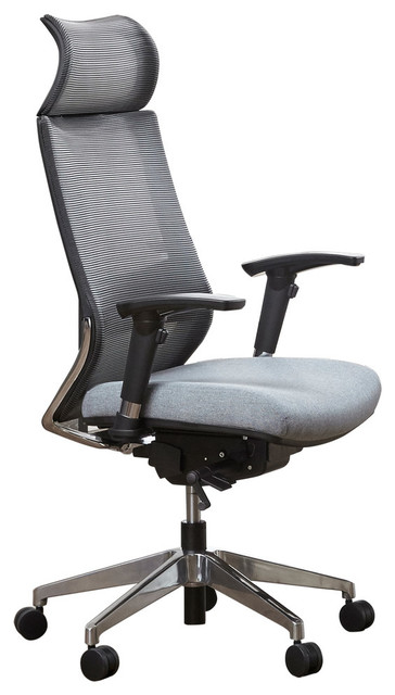 Ceo Grey Mesh Fully Ergonomic Executive Chair, High Back