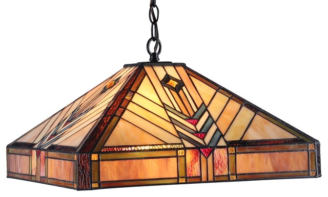 Edward 2-Light Mission Ceiling Pendant Fixture.