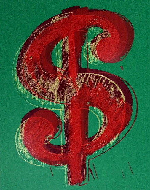 Dollar Sign Green Sunday B Morning Limited Edition Silk Screen Andy Warhol Contemporary Fine Art Prints By Commerce