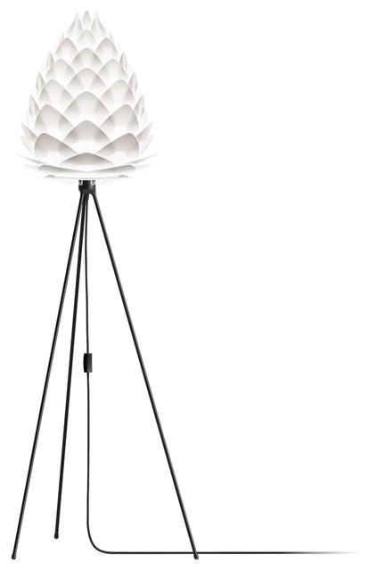"Conia 63"" Tripod Floor Lamp, Black/White"