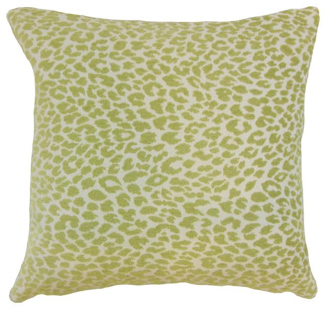 Animal Print Euro Pillow Shams : Pesach Animal Print Bedding Sham Kiwi, Euro - Contemporary - Pillowcases And Shams - by The ...