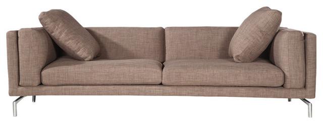 Basil Modern Contemporary Sofa, French Press Twill