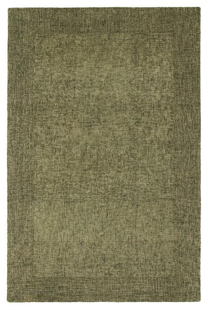 Kaleen Hand-Tufted Rachel Ray Highline Wool Rug, Olive, 8&x27;x10&x27;.