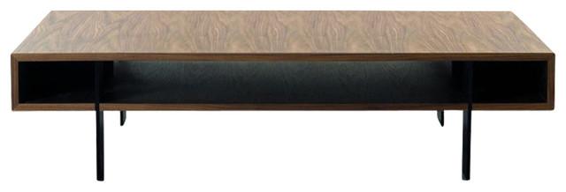 Modrest Stilt Modern Walnut Coffee Table