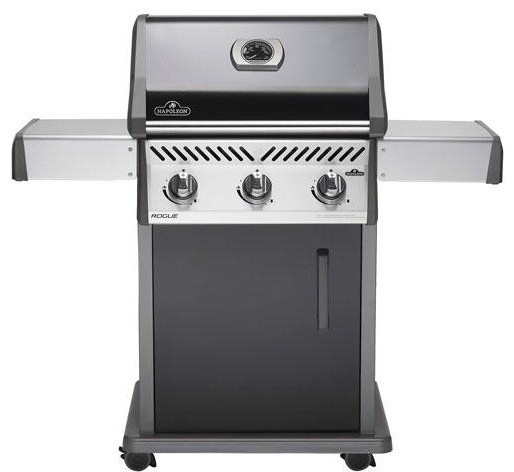 "Napoleon 51"" Freestanding Natural Gas Grill With 3 Stainless Steel Tube Burners."