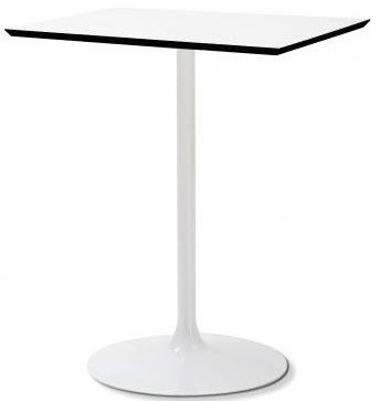 Incroyable Crown Q White Square Bistro Table