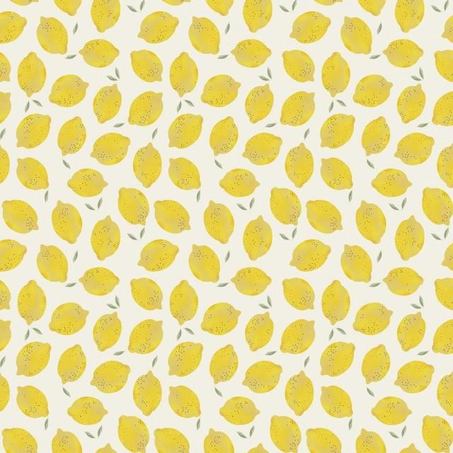 "Lemon Removable Wallpaper, Panel, 52""x26"". -1"