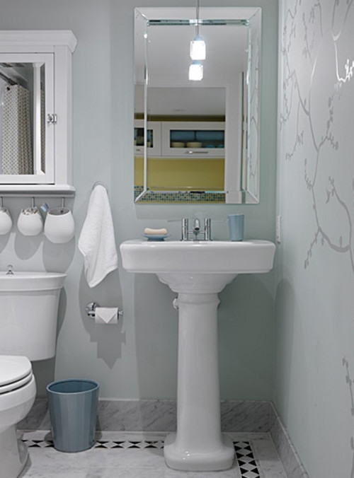 ... Keep The Area Above The Vanity Plain With Just A Flat Mirror   So That  Pushes Storage Over The Toilet (check Clearances) Here Are 2 Examples Of  Storage ...
