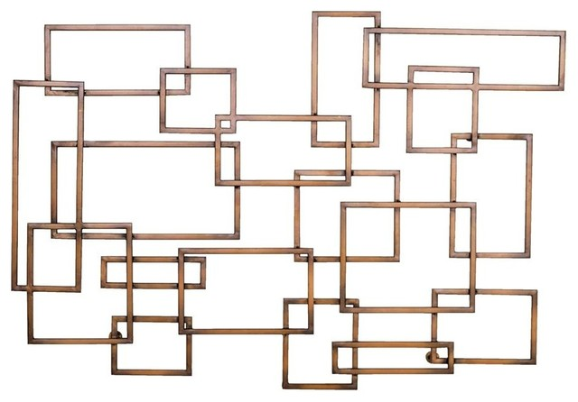 Geometric Wall Art In Copper Finish