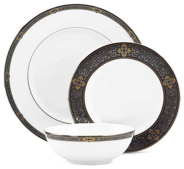 Lenox Vintage Jewel 36-Piece China Set Service for 12 mediterranean- dinnerware-  sc 1 st  Houzz & Lenox - Lenox Vintage Jewel 36-Piece China Set Service for 12 ...