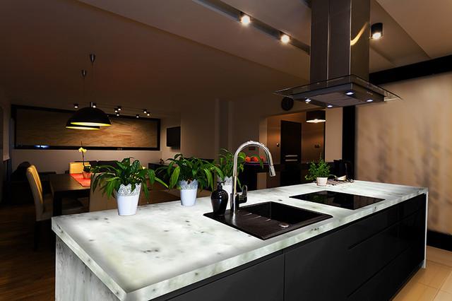 Onyx Slab Countertops : White ice onyx kitchen contemporary
