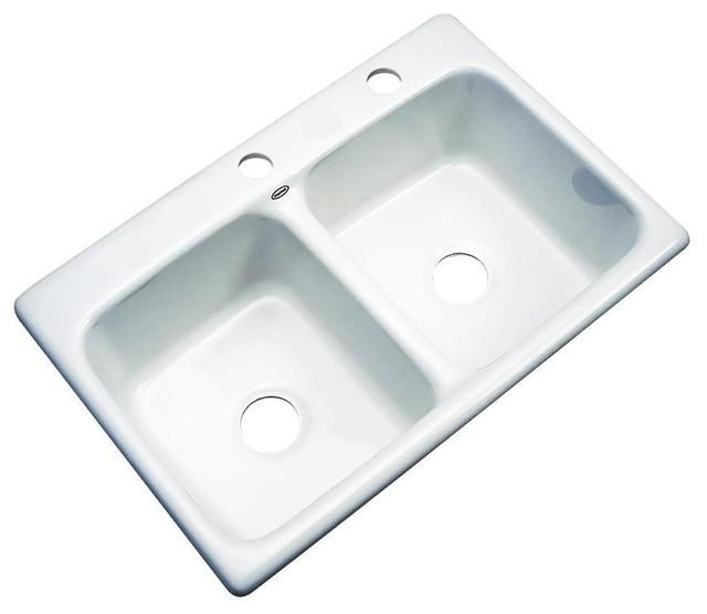 Charleston 2 Hole Kitchen Sink Contemporary Kitchen Sinks By SolidCast