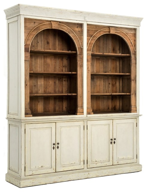 Swedish Gray Rustic Reclaimed Wood China Cabinet Hutch - Farmhouse - China Cabinets And Hutches ...