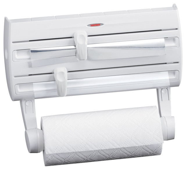 Wall Mount Roll Holder With Extra E Tray White