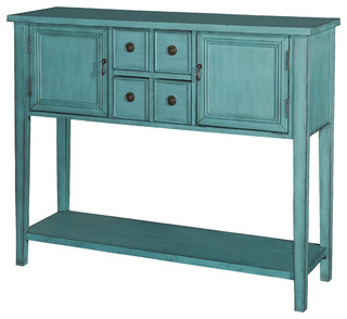 L powell acquisition corp duplin console blue console for 10 spring street console table