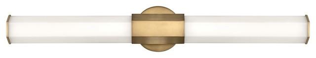 Hinkley Facet Bath Light 51153HB, Heritage Brass