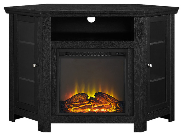 48 Corner Fireplace Tv Stand Traditional Entertainment Centers