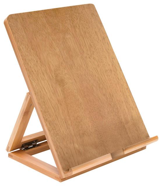Bamboo Tablet Stand Desk Accessories by OrganizeIt