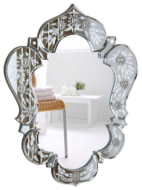 "Elegant Lighting Mr-2011 Venetian 26"" X21"" Mirror, Clear Mirror."