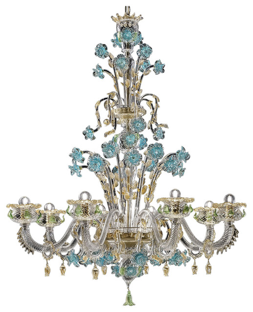 Celeste Murano Glass Chandelier