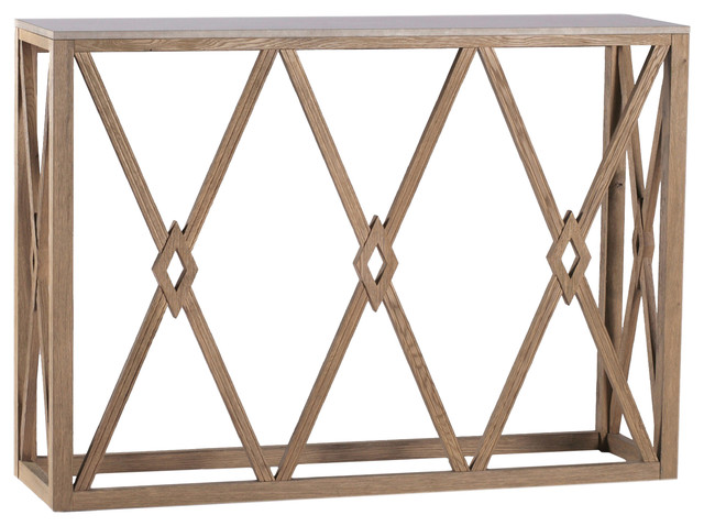 Gabby Alexander Wood And Stone Console Table.