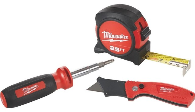 milwaukee tape measure utility knife screwdriver tool set hand tools and tool sets by hipp. Black Bedroom Furniture Sets. Home Design Ideas