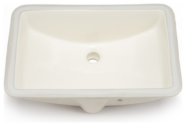 undermount bathroom sinks rectangular hahn hahn ceramic large rectangular bowl undermount 21132