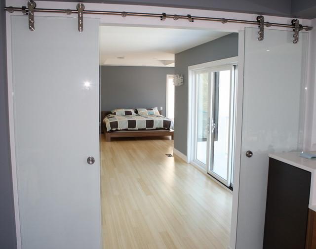 Free Shipping Modern Stainless Double Sliding BARN DOOR HARDWARE for Glass Door - Modern ...