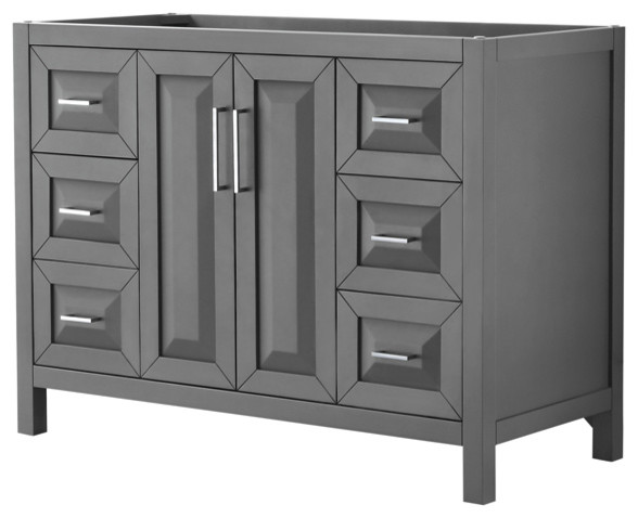 "Daria 48"" Dark Gray Single Vanity, No Top, No Sink, No Mirror."