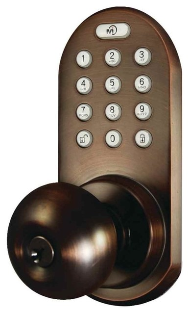 Remote Control and Touchpad Doorknob in Satin Nickel ...