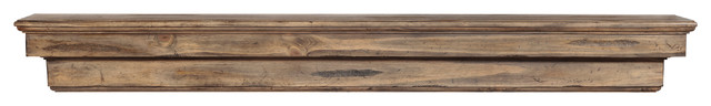 "Juneau Mantel, Natural, 48""."